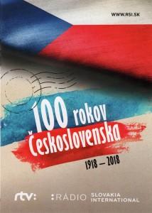 QSL de RSI - Slovaquie pour les 100 ans de la Tchécoslovaquie